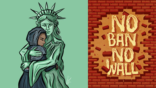 3-illustrators-respond-trump-refugee-ban